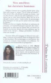 Nos Ancetres Les Derniers Hommes - 4ème de couverture - Format classique