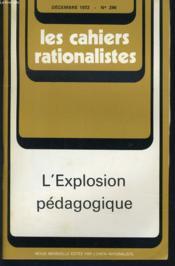 LES CAHIERS RATIONALISTES n° 296 : L'explosion pédagogique - Couverture - Format classique