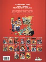 Les pompiers T.15 ; tonnerre de braise - 4ème de couverture - Format classique