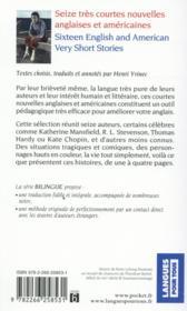 16 very short stories t.2 ; 16 très courtes nouvelles t.2 - 4ème de couverture - Format classique