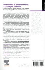 Interventions et thérapies brèves : 12 stratégies concrètes ; crises et opportunités (3e édition) - 4ème de couverture - Format classique