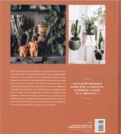 Plant lovers ; vivre heureux avec les plantes - 4ème de couverture - Format classique
