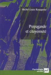 Propagande et citoyenneté - Intérieur - Format classique
