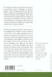 Propagande et citoyenneté - 4ème de couverture - Format classique