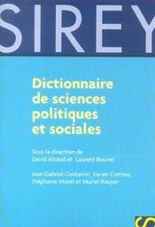Dictionnaire des sciences politiques et sociales - Intérieur - Format classique