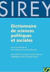 Dictionnaire des sciences politiques et sociales - Couverture - Format classique
