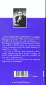 Le Pudlo France 2005 - 4ème de couverture - Format classique