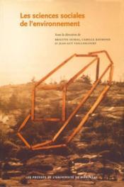 Les sciences sociales de l'environnement - Couverture - Format classique