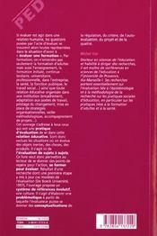 Se Former Pour Evaluer Se Donner Problem. & Elaborer Concepts - 4ème de couverture - Format classique