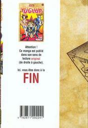 Yu-Gi-Oh t.2 - 4ème de couverture - Format classique