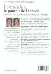 Empathie Le Pouvoir De L'Accueil (L') N.179 - 4ème de couverture - Format classique