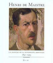 Henri De Maistre Prefacer De Dominique Ponnau - Intérieur - Format classique