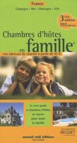 Chambres d'hôtes en famille france adresses de charme - Couverture - Format classique