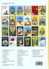 Les aventures de Tintin T.21 ; les bijoux de la Castafiore - 4ème de couverture - Format classique