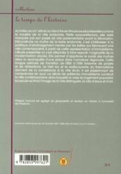 Aix-en-Provence 1850-1950 ; les faux-semblants de l'immobilisme - 4ème de couverture - Format classique