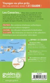 Geoguide ; Canaries - 4ème de couverture - Format classique