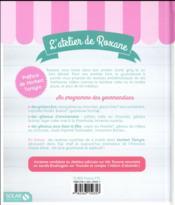 L'atelier de Roxane ; ses meilleurs recettes - 4ème de couverture - Format classique