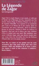 Défis fantastiques t.52 ; la légende de Zagor - 4ème de couverture - Format classique