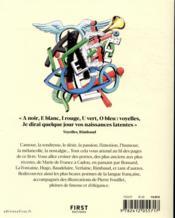 Anthologie de la poésie française - 4ème de couverture - Format classique