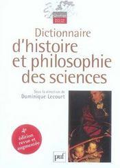 Dictionnaire d'histoire et philosophie des sciences (4e édition) - Intérieur - Format classique