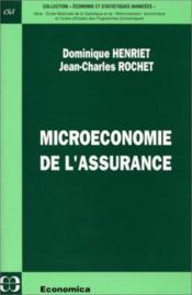 Microeconomie de l'assurance - Couverture - Format classique