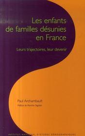Les enfants de familles désunies en France - Intérieur - Format classique