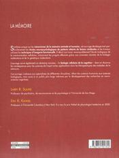 Memoire (la) - 4ème de couverture - Format classique
