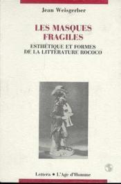 Masques Fragiles - Couverture - Format classique