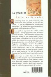 Premier Dieu - 4ème de couverture - Format classique