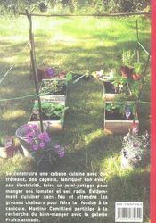 Petite Cuisine Au Fond Du Jardin - 4ème de couverture - Format classique
