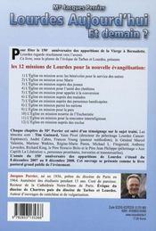 Lourdes aujourd'hui et demain - 4ème de couverture - Format classique