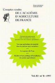 Vers une agriculture de marche dans les anc - Couverture - Format classique