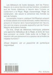 Regle des francs macons de la pierre franche (la) - 4ème de couverture - Format classique