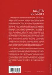 Sujets du désir ; réflexions hégéliennes en France au XXe siècle - 4ème de couverture - Format classique