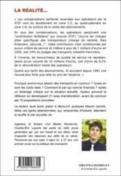 La réalité des transports en commun franciliens - 4ème de couverture - Format classique