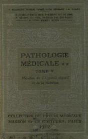 Précis de pathologie médicale, tome 5: maladies de l'appareils digestif et de la nutrition - Couverture - Format classique