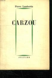 Carzou. - Couverture - Format classique