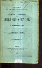 Resume De La Philosophie De Herbert Spencer. - Couverture - Format classique