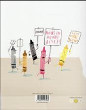 Rébellion chez les crayons - 4ème de couverture - Format classique