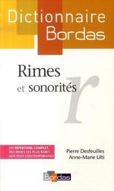 Dictionnaire Bordas des rimes et sonorités - Intérieur - Format classique