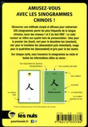 Le chinois pour les nuls ; 356 flash cards - 4ème de couverture - Format classique