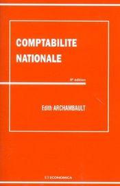 Comptabilite Nationale - Intérieur - Format classique
