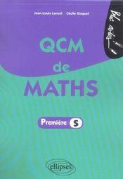 Qcm De Maths - Intérieur - Format classique