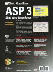 Grand Livre Asp 3-Sites Web Dynamiques - 4ème de couverture - Format classique