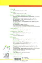 Lettre Du Grape N.63 ; Lettre De L'Enfance Et De L'Adolescence ; L'Enfant Et Ses Institutions - 4ème de couverture - Format classique