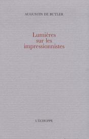 Lumières sur les impressionnistes - Couverture - Format classique