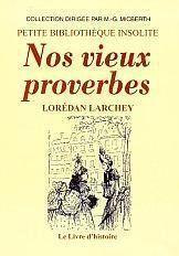 Nos Vieux Proverbes - Couverture - Format classique
