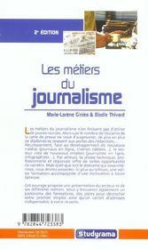 Les metiers du journalisme (2e édition) - 4ème de couverture - Format classique