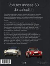 Les voitures de collection des années 50 - 4ème de couverture - Format classique