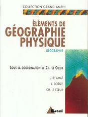 Elements de geographie physique - Intérieur - Format classique